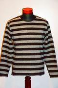 Pherrow's (フェローズ) ウールボーダー・バスクシャツ 13W-PWBT1-B グレー杢×ブラック