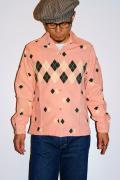 スタイルアイズ/コーデュロイ・オープンカラーシャツ/SE25974/ARGYLE/ピンク