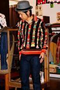 インディアンモーターサイクル/長袖オープンカラーシャツ/TOTEM POLE/ブラック