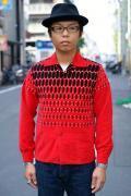 """STYLE EYES (スタイルアイズ) コーデュロイ・スポーツシャツ SE26786 """"ELVIS DOTS"""" レッド"""