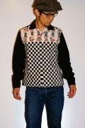 スターオブハリウッド/長袖オープンカラーシャツ/SH25583/CHESS/オフホワイト