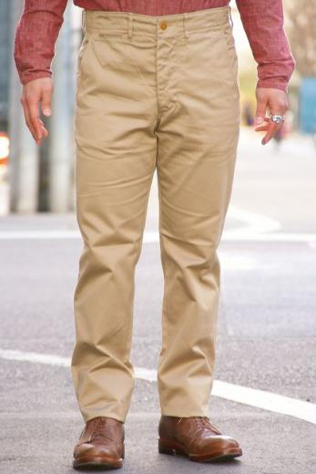 "WORKERS (ワーカーズ) チノパン ""Workers Officer Trousers, Slim, Type1"" ベージュ"