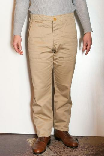 "WORKERS (ワーカーズ) チノパン ""Workers Officer Trousers, Slim Tapered,"" カーキ"