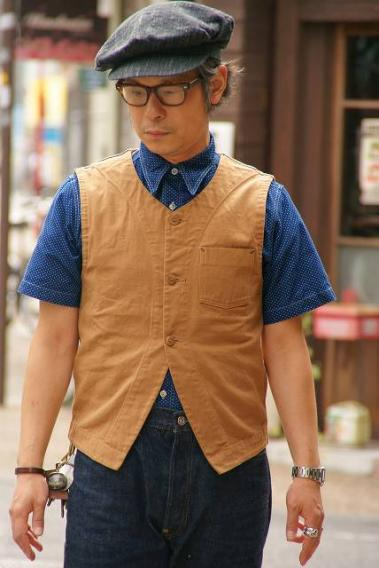 "DALEE'S (ダリーズ) ダックベスト ""Berval (バーバル)"" ...30s VEST for KNIT ブラウンダック"