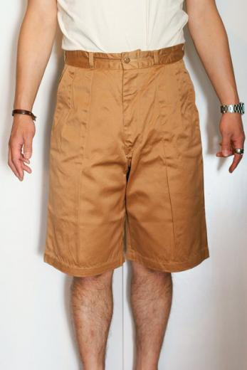 "BUZZ RICKSON'S (バズリクソンズ) チノショーツ BR51548 ""SHORTS, MEN'S, COTTON, UNIFORM TWILL, 8.2OZ."" キャメル"