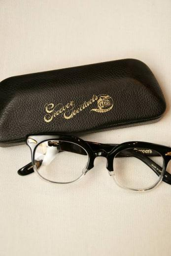 "Dapper's (ダッパーズ) Wネーム・サングラス 1184 ""10th Anniversary GROOVER Wname Eyewear Type APOLLO"" ブラック/クリアー"