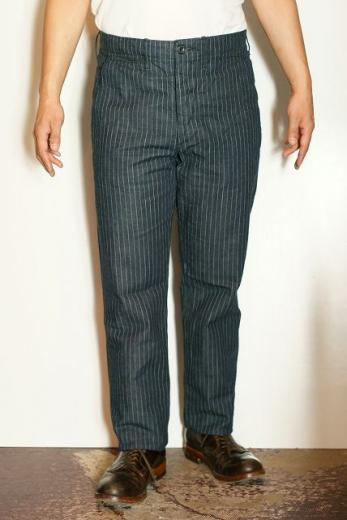 "WORKERS (ワーカーズ) トラウザース ""Workers Officer Trousers, Slim Tapered,"" ピンストライプデニム"