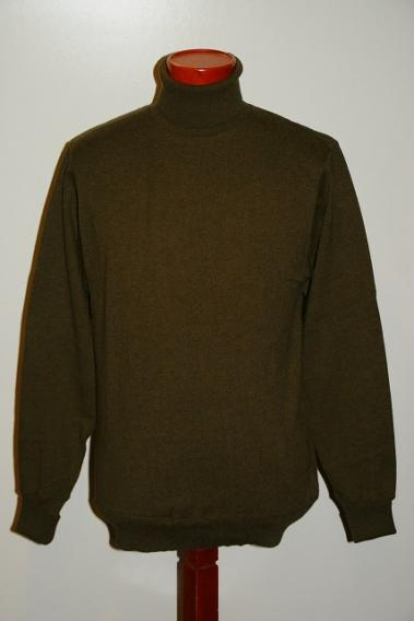 "WORKERS (ワーカーズ) タートルネック・カットソー ""FC High Gauge Knit, Turtle, Olive"" オリーブ"