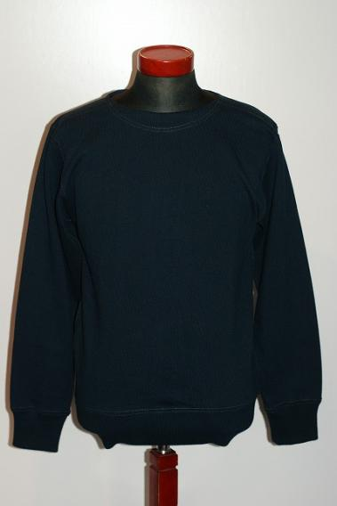 "WORKERS (ワーカーズ) ボートネック・カットソー ""Boat neck Sweater"" ネイビー"